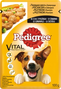 Pedigree Pouch Chicken and Vegetables - Пауч с полешко месо и зеленчуци