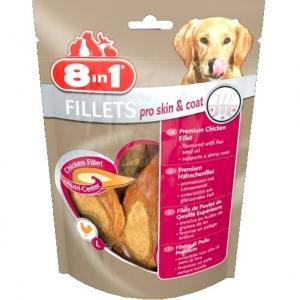 8 in1 Вкусни пилешки филенца Pro Skin & Coat S