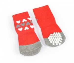 Camon Чорапки за кучета - червени, размер XXL