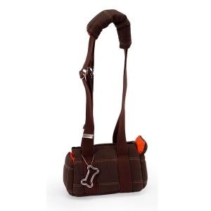 Camon Транспортна чанта за малки кученца - кафява, малка