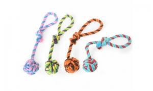Camon Играчка за кучета- топка с въже