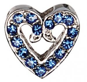 Camon Декоративно сърце с брилянти - синьо