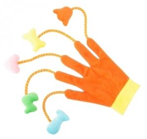 Camon Играчка за кучета и котки - ръкавица театър - оранжева