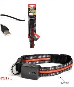 Camon Нашийник за кучета - светещ, USB - голям