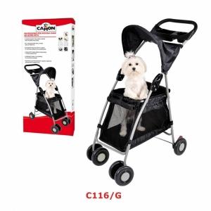 Camon Количка за превозване на кучета - черна
