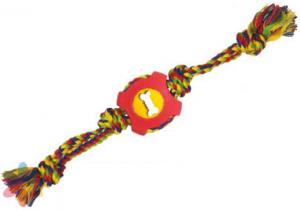 Camon Играчка за кучета - въже с гума