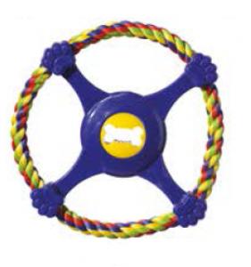 Camon Играчка за кучета - волан от въже и гума