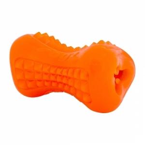 Rogz Yumz - TPR гумен кокал за дъвчене - оранжев, малък 1
