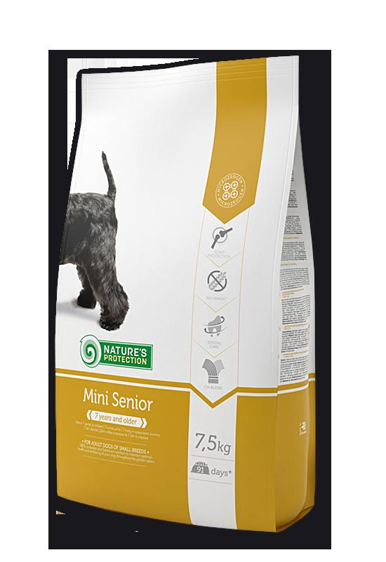 Mini Senior - За възрастните кучета от малките породи 7.5 кг