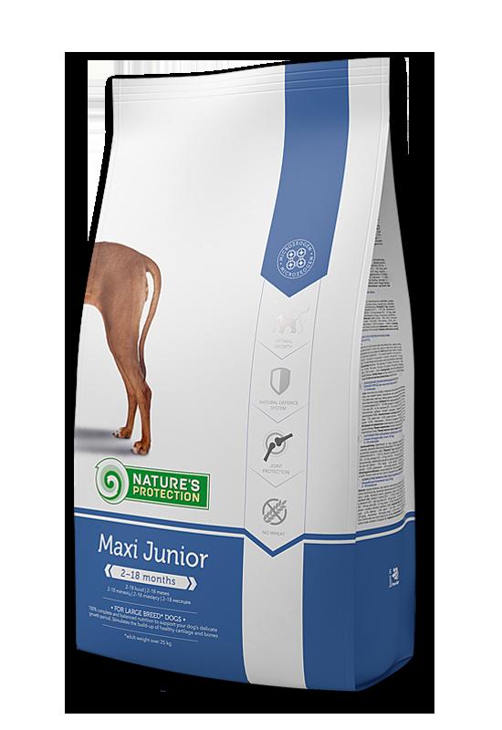Maxi Junior - За растящите кученца от големите породи 4 кг