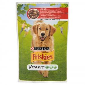 Friskies Dog Pauch Adult - пауч за кучета, с говеждо месо и картофи, 100 гр.
