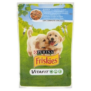 Friskies Dog Pauch Junior - пауч за кученца, с пилешко месо и моркови, 100 гр.