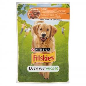 Friskies Dog Pauch Adult - пауч за кучета, с пилешко месо и моркови, 100 гр.