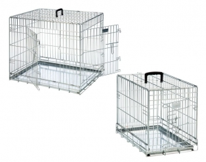 Flamingo Сгъваема метална клетка Wire Dog 2 Doors - две врати, 93 x 57 x 62 см 1