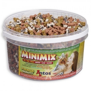Antos Mini Mix Снакс пиле, агне, сьомга, 1500гр 1
