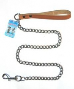 Миазоо метален повод за кучета с черна дръжка- 2.5 мм./100 см. 1