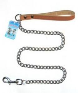 Миазоо метален повод за кучета с червена дръжка- 2.0 мм./100 см. 1