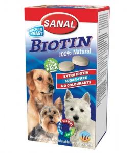 Sanal Витамини с биотин за кучета - Biotin 400 гр
