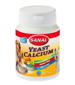 Sanal Витамини с калций за кучета - Yeast-Calcium 400 таблетки