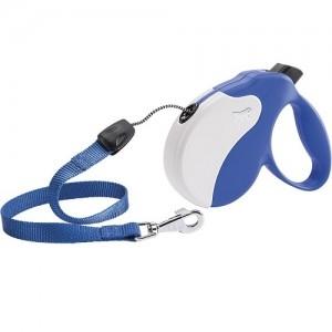 Ferplast - Amigo Cord Medium Blue/White Повод за кучета до 25 кг 1