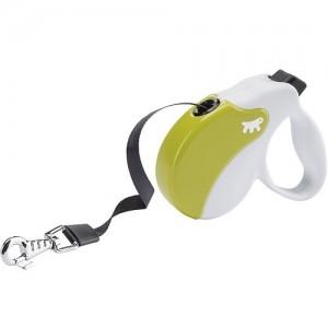 Ferplast - Amigo Tape Small Green/White Повод за кучета до 15 кг 1