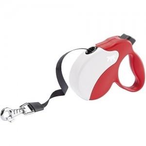 Ferplast - Amigo Tape Small Red/White Повод за кучета до 15 кг 1