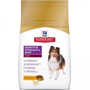 Hill's - Science Plan™ Canine Adult Sensitive Stomach and Skin - суха храна за кучета с чуватвителен стомах и кожа, пилешко 1