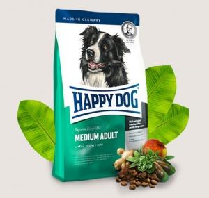 Happy Dog Adult Medium - суха храна за кучета, средни породи, над 15 месеца