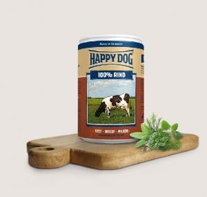 Happy Dog Rind Pur - консерва за кучета, говеждо, 400 гр.