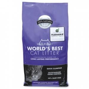 Worlds Best Cat Lavender Scented Multiple cat litter - най добрата тоалетна за Вашият дом 3.18 кг. / с аромат на лавандула / 1