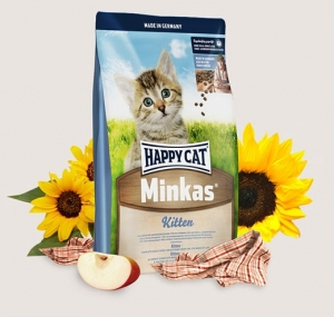 Happy Cat Minkas Kitten - пълноценна храна с пилешко месо, за котки от 2 до 12 месеца 10 кг.