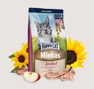 Happy Cat Minkas Sterilised - пълноценна храна за кастрирани котки над 12 месеца 10 кг.