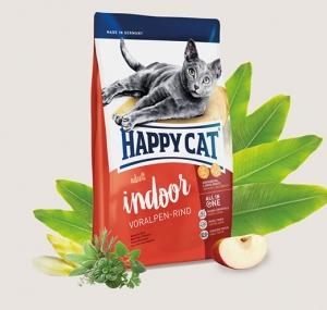Happy Cat Voralpen Rind Indoor - за котки с намалена физическа активност 1.4 кг.