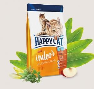Happy Cat Atlantik Lachs Indoor - за котки с намалена физическа активност 1.4 кг.