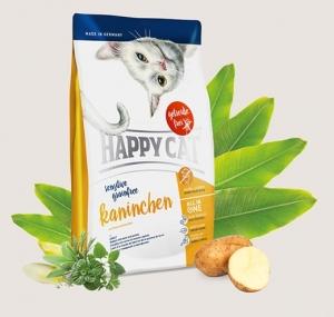 Happy Cat Sensitive Grain Free Rabbit - деликатесна храна със заешко месо и картофи, за котки над 12 месеца 4 кг.