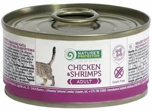 Nature's Protection Adult Chicken & Shrimps - консерва с пилешко месо и скариди 24 x 100 гр.