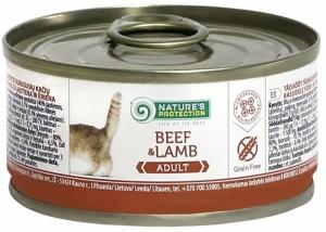 Nature's Protection Adult Beef & Lamb - консерва с говеждо и агнешко месо 24 x 100 гр.