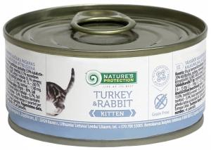 Nature's Protection Kitten Turkey & Rabbit- консерва с пуйка и заешко месо 24 х 100 гр.