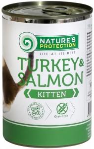 Nature's Protection Kitten Turkey & Salmon - консерва с пуйка и сьомга 6 х 400 гр.