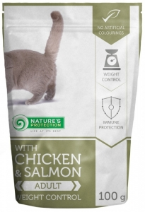 Nature's Protection With Chicken & Salmon Weight Control - с пиле и сьомга за контрол на теглото, 100 гр.