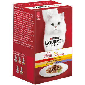 Gourmet Mon Petit Meat Mix - изискана рецепта / с агнешко, телешко, говеждо / 6 броя по 50 грама