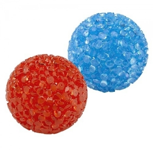 Ferplast Neon ball pa5200 - грапави силиконови топчета със звънче, 2 бр./оп.