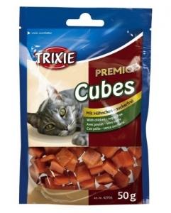 Trixie Premio Chicken Cubes - Лакомство за котки с пилешко месо 50 гр. 1