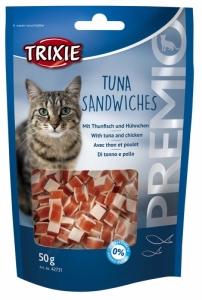Trixie Premio Tuna Sandwiches - Лакомство за котки под формата на сандвичи с риба тон 50 гр