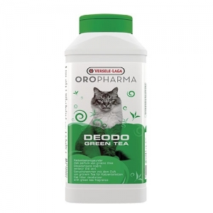 Versele-Laga - Deodo Green tea - деодорант на прах за котешка тоалетна с аромат на зелен чай - опаковка 750 мл