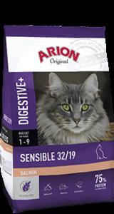 Arion Cat Original Sensible 32/19 Digestive Salmon - за чувствителни и капризни котки, 7.5 кг.