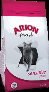 Arion Cat Friends Sensitive Hairball Chicken&Lamb- суха храна за котки с пиле и агнешко , 15 кг.