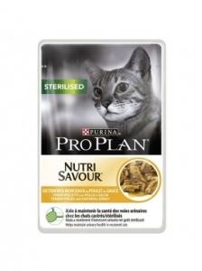 Pro Plan Nutri Savuor Sterilised - (с пилешко месо), за кастрирани котки в зряла възраст, 85 гр.