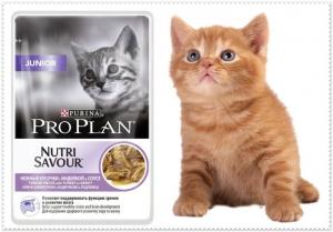 Pro Plan Nutri Savuor Junior - пауч за малки котенца по време на отбиване и растеж ( с пуешко месо в сос ), 85 гр.