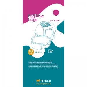 Ferplast Hygienic bags FPI 5366 - торбички за тоалетни Dama и Mika, 10 броя, 56 / 52 cm 1